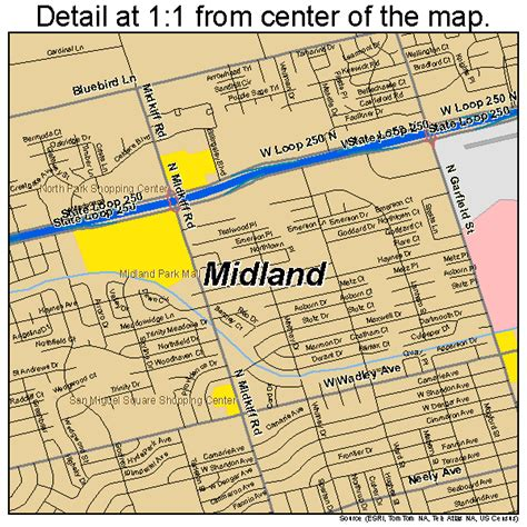 texas map midland midland tx