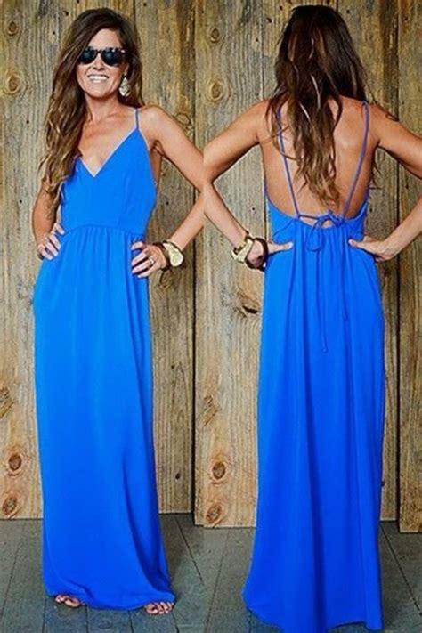Dress Maxi Dress 27419 Blue White Summer Totem S M L Dress dress blue prom dress backless prom dress maxi dress blue maxi dress blue prom dress