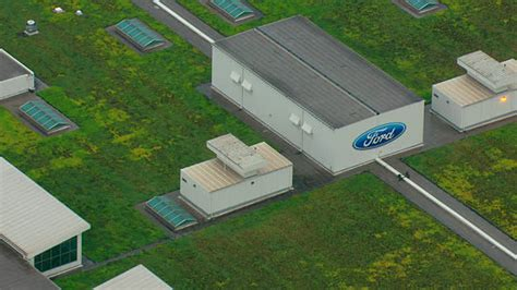 living roof dearborn images cu aerial ford sign on building and living roof on top of