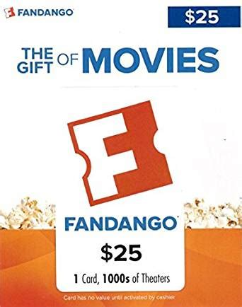 Fandango Redeem Gift Card - amazon com fandango gift card 25 gift cards