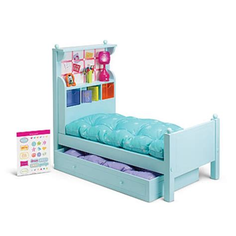 ag doll beds american girl my ag bouquet bed set damaged for 18 quot dolls wood l accessories ebay