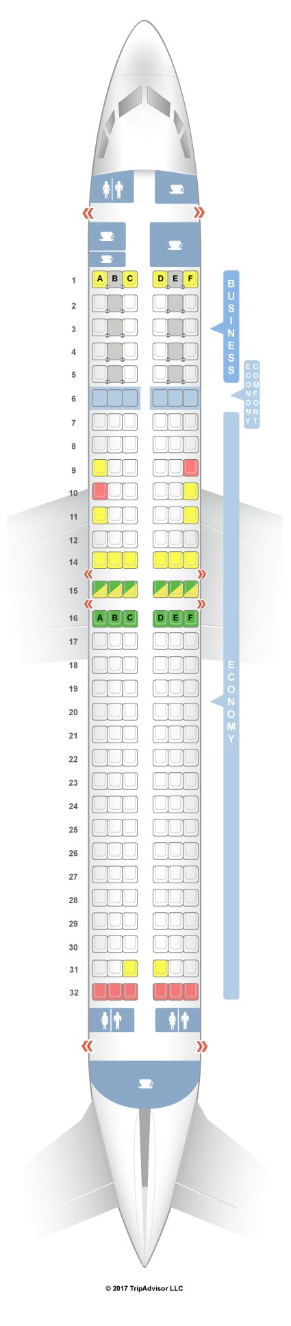 transavia seats seatguru seat map klm boeing 737 800 738