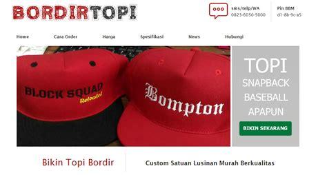 Bordir Topi bikin topi bordir murah dan cepat ala bordirtopi