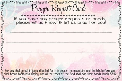 prayer request card template prayer request cards magikal moments retreat