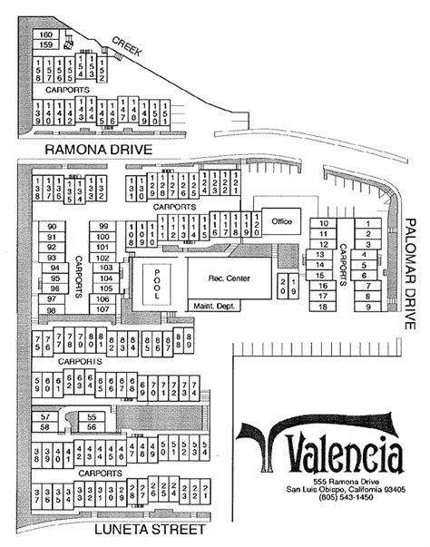 Valencia Appartment by Valencia Apartments Complex Map