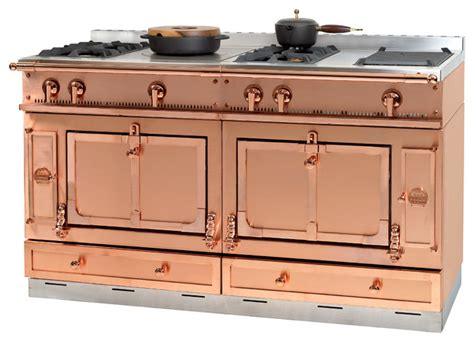 copper kitchen appliances kitchen transitional with la cornue of france chateau 150 in copper transitional