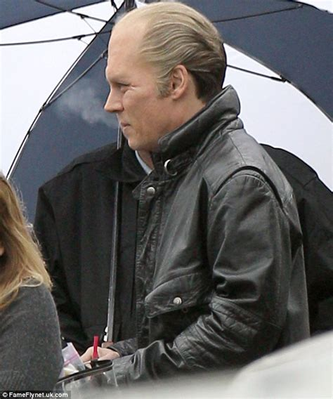 johnny depp wears a wig in public new photo shows johnny depp in bald cap and wig in role of mob boss james