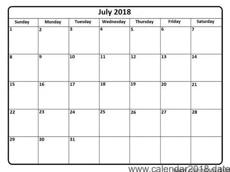 printable july 2018 calendar calendar july 2018 template happyeasterfrom com