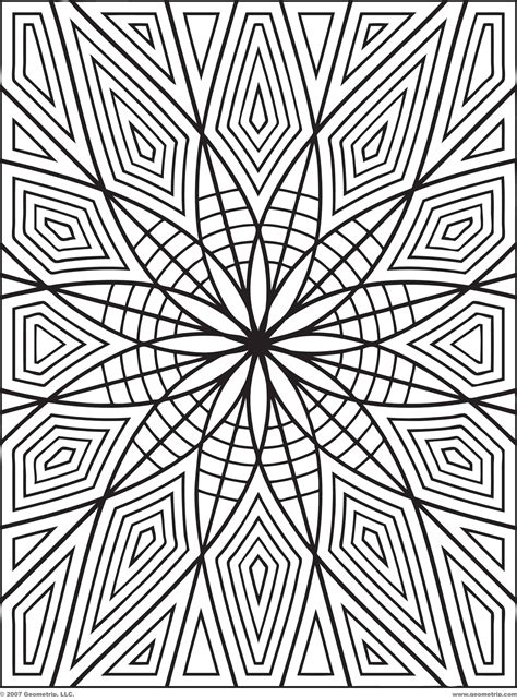 printable coloring pages geometric patterns geometric coloring pages for adults coloring home