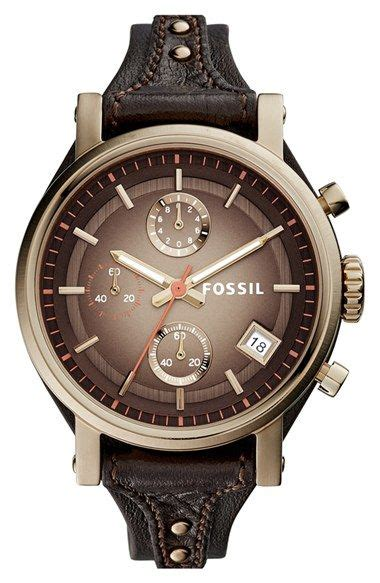 Fossil Logan Chronograph Leather Ori s fossil original boyfriend chronograph leather 38mm coloring style and