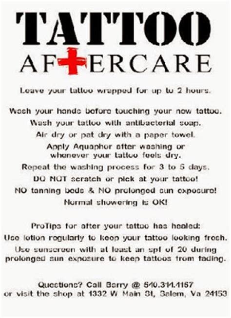 how to properly take care of a tattoo aftercare designs