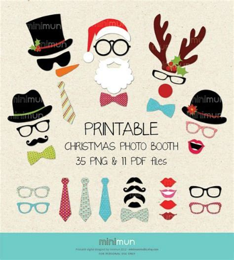 printable christmas party photo booth props the top 20 holiday photo booth printable prop sets