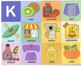 color con k aprende las palabras laminas de palabras con dibujos