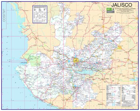 jalisco map jalisco road map el plan mexico mappery