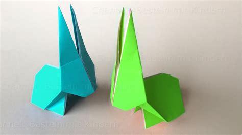 3d origami hase origami hase falten osterhasen basteln mit kindern