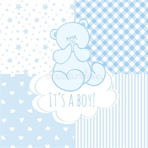 baby boy template card baby shower boy stock vector image of announcement