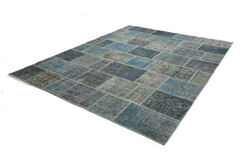 motta tappeti tappeto vintage patchwork azzurro
