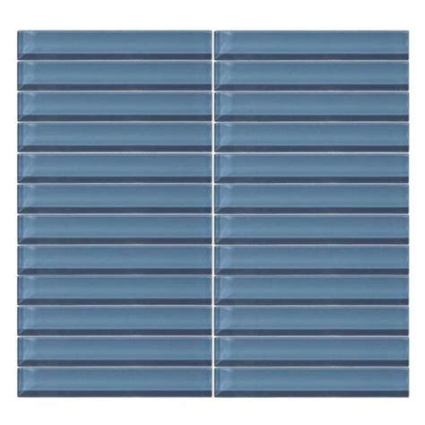 daltile color wave daltile color wave glass cw14 twilight blue 1 x 6