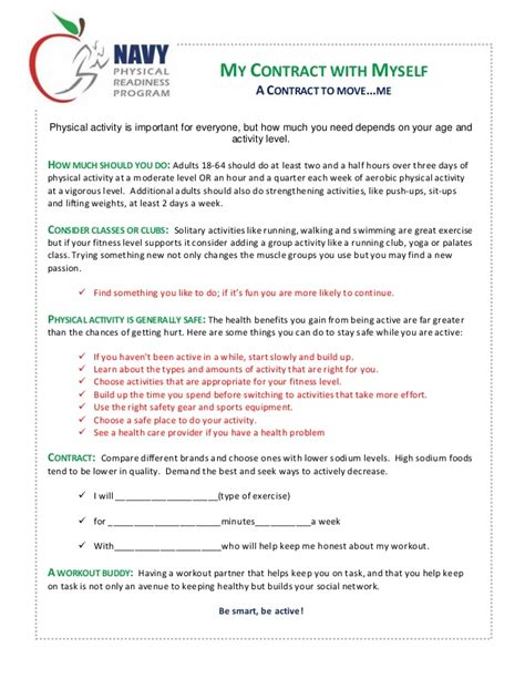 exercise contract template fitness contract