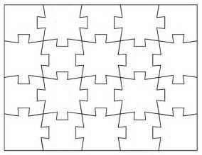 Puzzle Template 20 Pieces by Teacherdance Linking Up Jigsaw