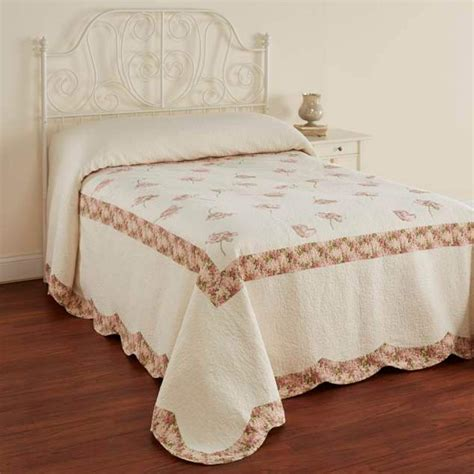 Embroidered Bedspreads Cannon Embroidered Bedspread Floral Home Bed Bath