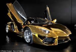 Gold Chrome Lamborghini Gold Chrome Lamborghini Lambo