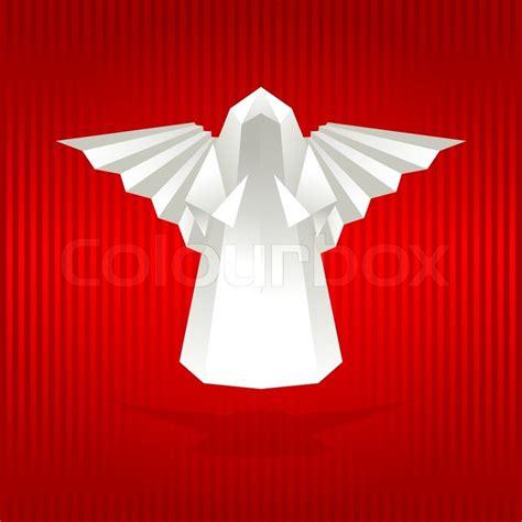 Engel Origami - wei 223 origami engel stock vektor colourbox