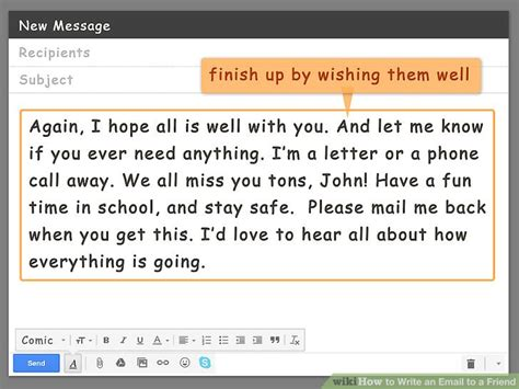 How To Search Friends On By Email How To Write An Email To A Friend With Pictures Wikihow