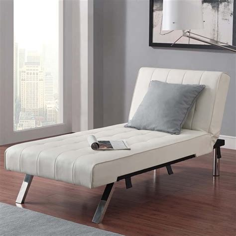 White Leather Chaise Lounge Faux Leather Chaise Lounge In White 2024109