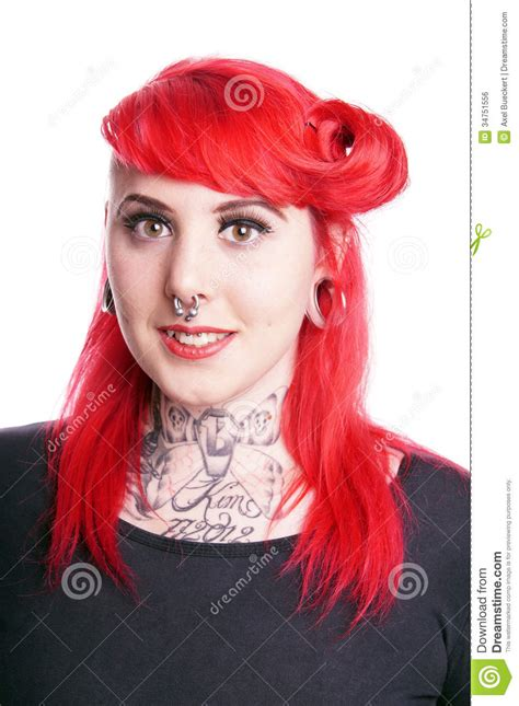 woman with piercings royalty free stock image