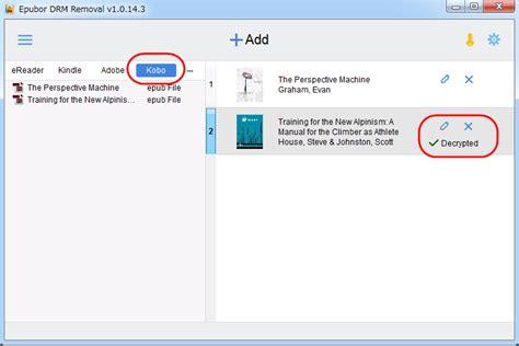 format epub kobo kobo drm removal remove drm from kobo vox epub pdf files