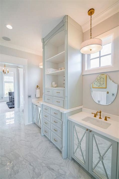 Turquoise Blue Bathroom Vanity With Mirrored Doors Turquoise Bathroom Vanity