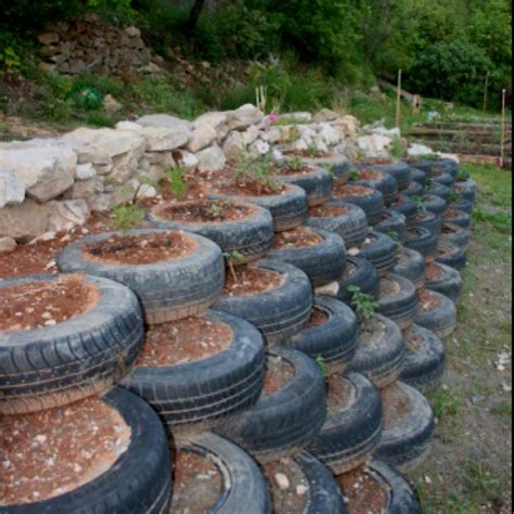 Landscaping Ideas With Old Tires Tires Steps For The Tire Garden Ideas