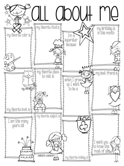 all about me coloring pages free printable appreciation coloring pages just