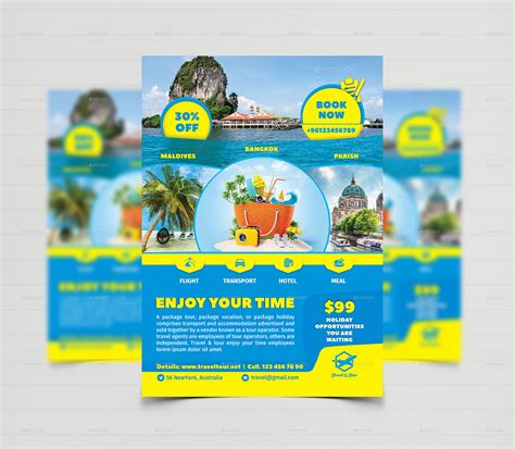 tour flyer template travel tour flyer templates by creative touch graphicriver