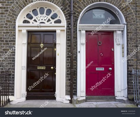 a colorful look behind the doors of dublin huffpost houses were planned look alike dublin stock photo