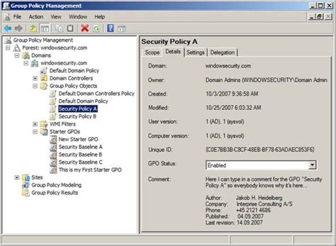 gpo console policy management console on vista backstage