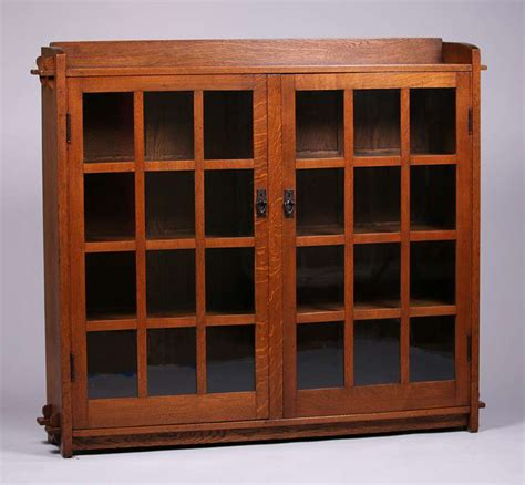 stickley bookcase for sale fantastic gustav stickley two door bookcase with tenon