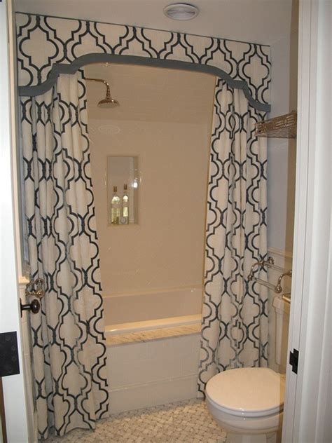 bathroom curtain valances shower valance with curtains transitional bathroom