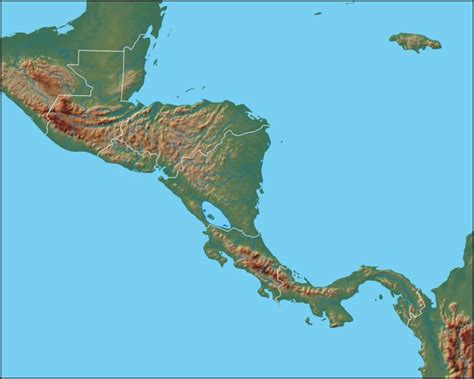 map of mexico central america physical map of central america central america