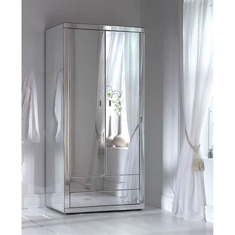 Mirrored Armoire Closet All Mirror Wardrobe