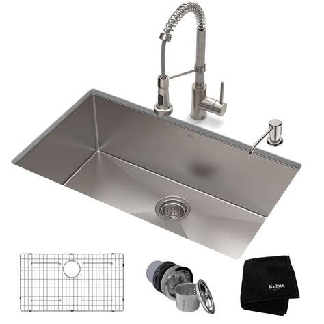 Kraus 32 Inch Undermount Sink by Kraus Standart Pro All In One Undermount Stainless Steel
