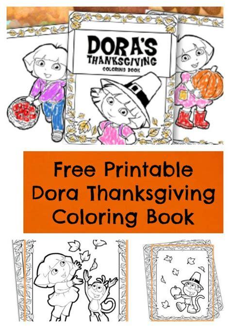 dora printable preschool activities free printable dora thanksgiving coloring book jinxy