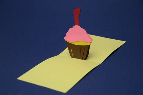 Cupcake Pop Up Card Template by Simple Cupcake Pop Up Card Template