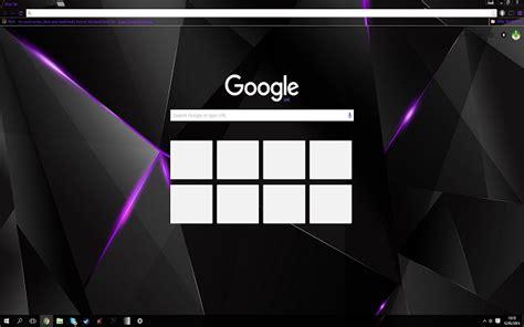 theme google black black purple shards chrome web store
