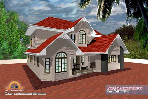 new house plan in kerala 5 beautiful home elevation designs in 3d kerala home design and floor plans