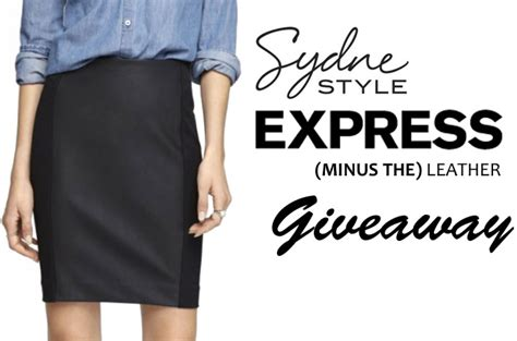 giveaway express minus the leather skirt sydne style