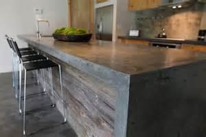 cement bar top plan de travail cuisine en 71 photos id 233 es inspirations