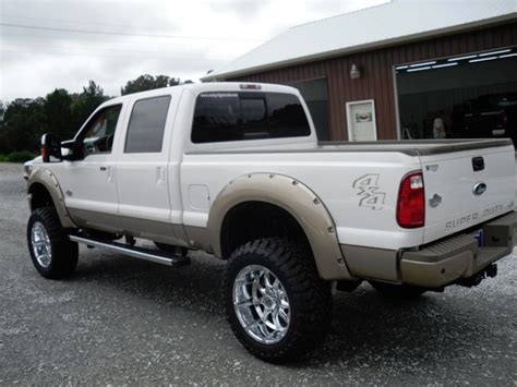 ford truck white ford f 250 white two tone lifted truck ford lifted