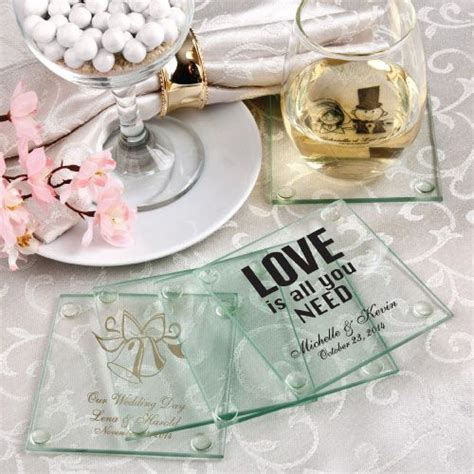 Wedding Favors Coasters personalized glass coasters wedding favors